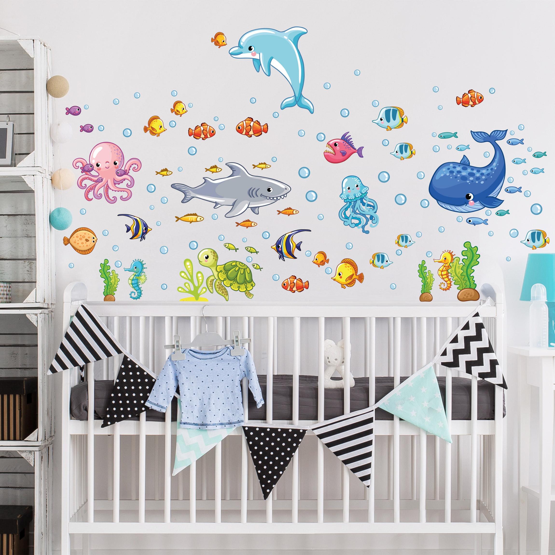 Full Size of Wandtatoo Kinderzimmer Wandtattoo Unterwasserwelt Fisch Set Regal Weiß Sofa Küche Regale Kinderzimmer Wandtatoo Kinderzimmer