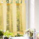 Scheibengardine Kchenvorhang Gelb Einfarbig Gardinen Outlet Wohnzimmer Küchengardinen
