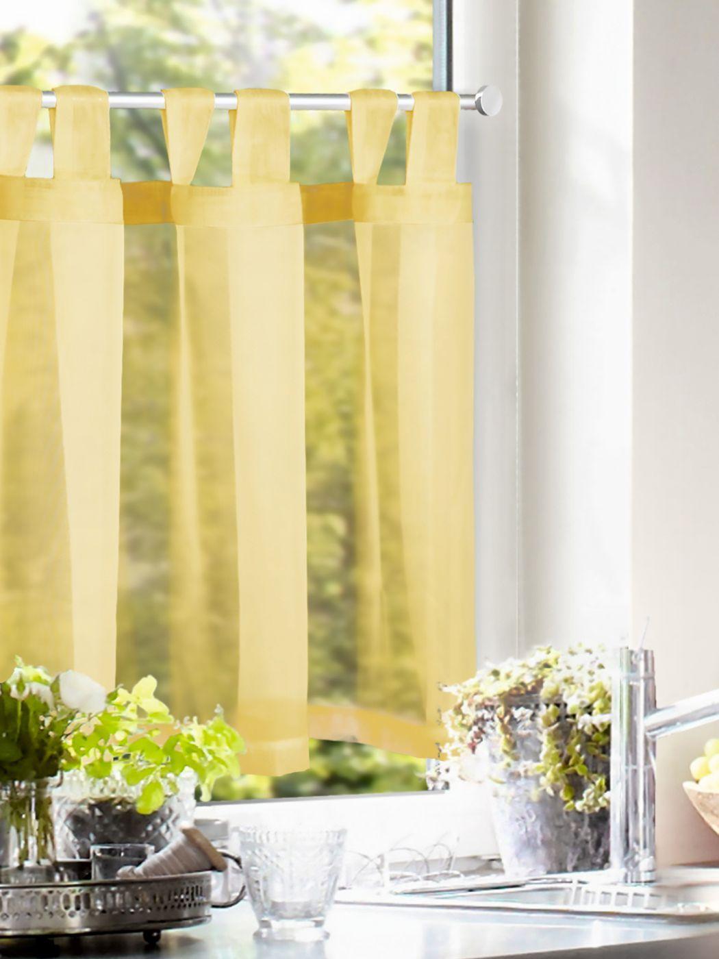 Full Size of Scheibengardine Kchenvorhang Gelb Einfarbig Gardinen Outlet Wohnzimmer Küchengardinen