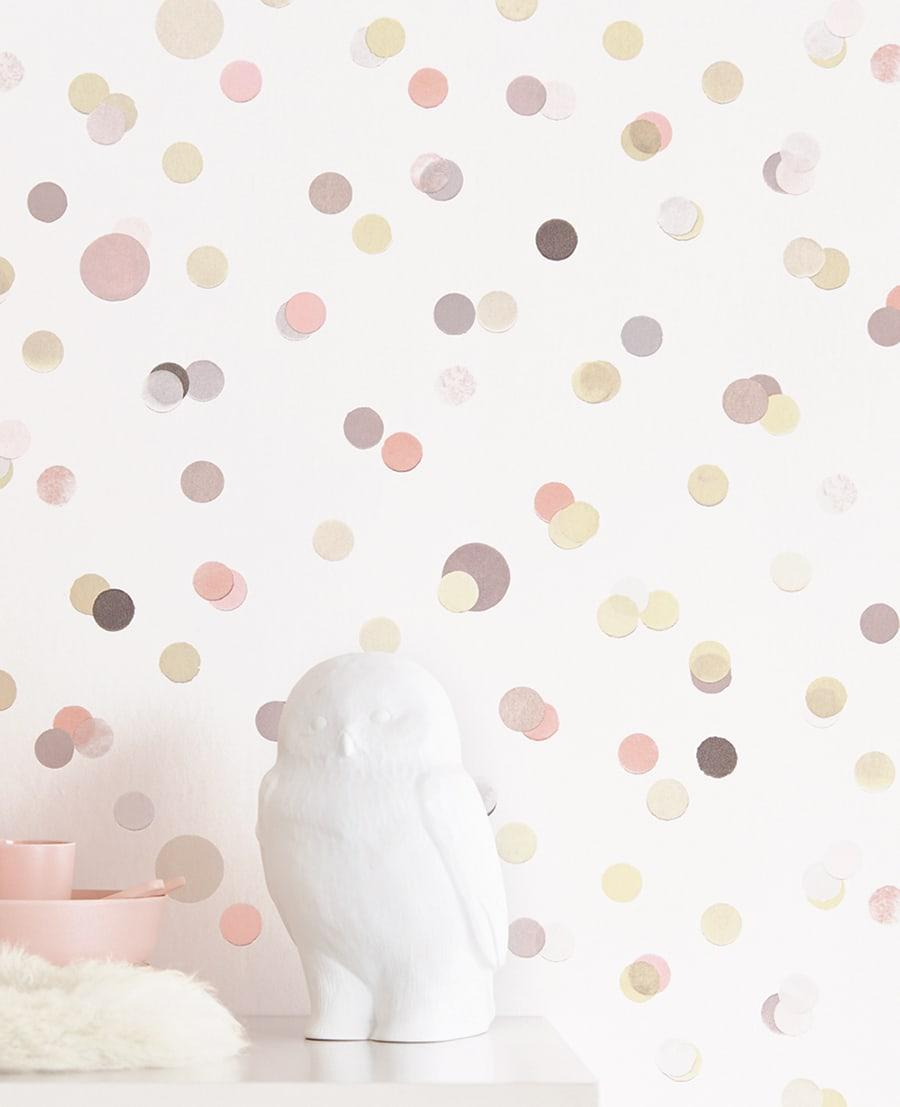 Full Size of Tapete Confetti Rosa Von Eijffinger Fr Das Moderne Kinderzimmer Regal Tapeten Schlafzimmer Für Die Küche Fototapeten Wohnzimmer Ideen Modern Sofa Fototapete Wohnzimmer Kinderzimmer Tapete