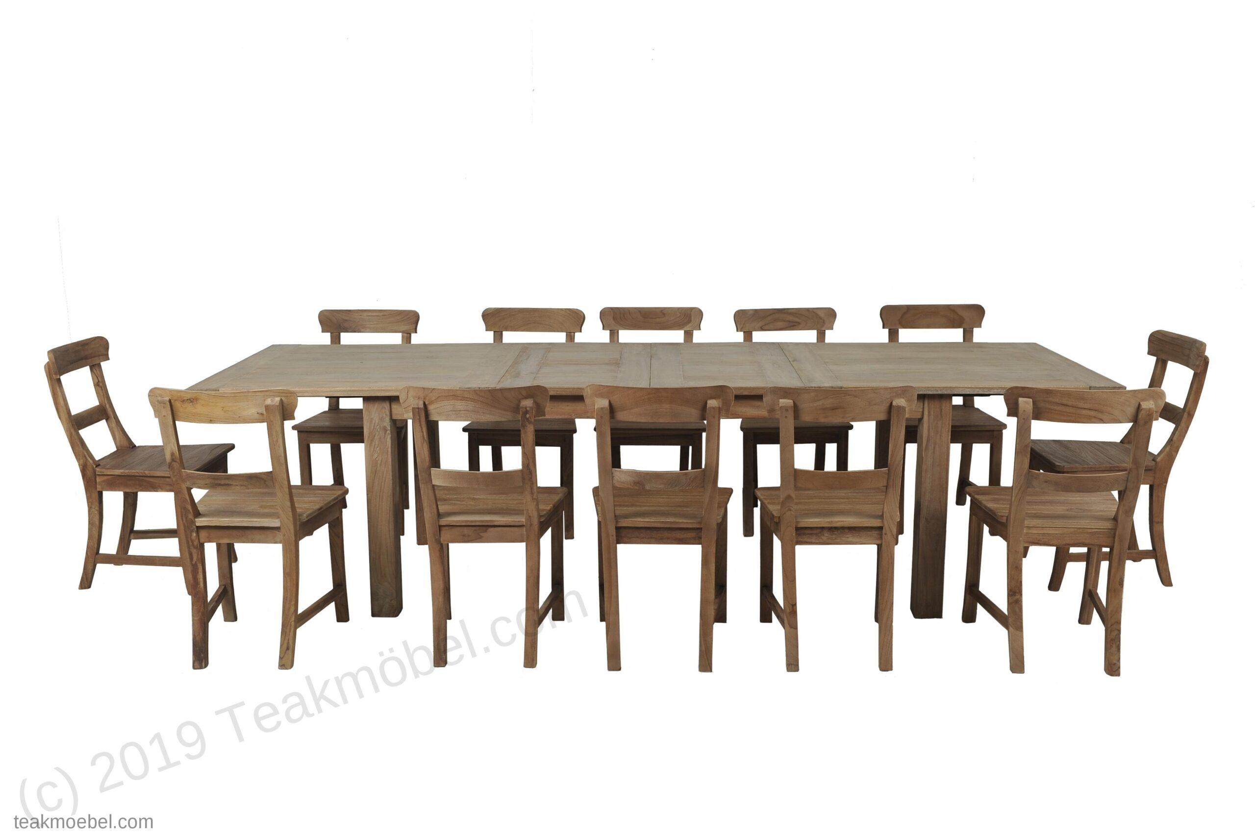 Full Size of Esstisch Stühle Teak Ausziehbar 200 250 300x100 12 Sthle Teakmbelcom Massiv Moderne Esstische Industrial Vintage Weiss Eiche Runder Mit 4 Stühlen Günstig 2m Esstische Esstisch Stühle