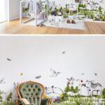 Kinderzimmer Wanddeko Kinderzimmer The Rabbits Playground In 2020 Kinderzimmer Tapete Wanddeko Küche Regal Regale Weiß Sofa