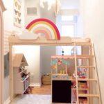 Kinderzimmer Hochbett Regenbogen Diy Altbau Be Regal Weiß Regale Sofa Kinderzimmer Kinderzimmer Hochbett