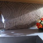 Abwaschbare Tapete Kchenrckwand Alternative Zur Fliese Farbefreudeleben Tapeten Schlafzimmer Fototapete Küche Modern Für Die Wohnzimmer Ideen Fototapeten Wohnzimmer Abwaschbare Tapete