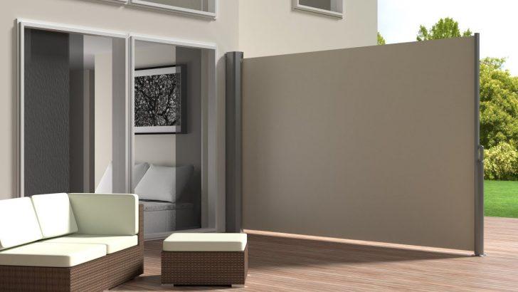 Medium Size of Seitenmarkise Befestigung Tectake 800289 Youtube Garten Paravent Wohnzimmer Paravent Terrasse