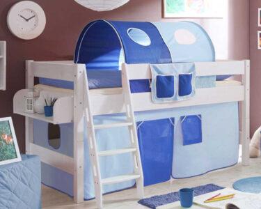 Hochbett Kinderzimmer Kinderzimmer Kinderzimmer Hochbett Califonia In Blau Und Wei Mit Vorhang Regal Sofa Regale Weiß