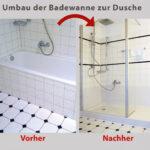 Ebenerdige Dusche Kosten Aus Ihrer Alten Badewanne Wird Ein Gerumiges Duschvergngen Mit Tür Und Grohe Thermostat Nischentür Rainshower Unterputz Armatur Dusche Ebenerdige Dusche Kosten
