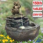 Gartenbrunnen Solar Wohnzimmer Hornbach Solarbrunnen Gartenbrunnen Solar Mit Akku Pumpe Stein Solarbetriebene Tchibo Durstiger Frosch Led Licht