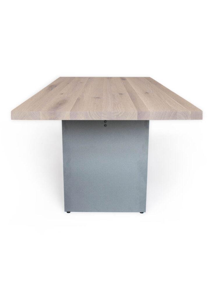 Medium Size of Massivholz Esstisch Nelson Tisch Mit Stahluntergestell Mbzwo Kleiner Runder Stühle Oval Holzplatte Günstig Groß Massiv Weiß Ausziehbar Wildeiche Esstische Esstisch Massivholz