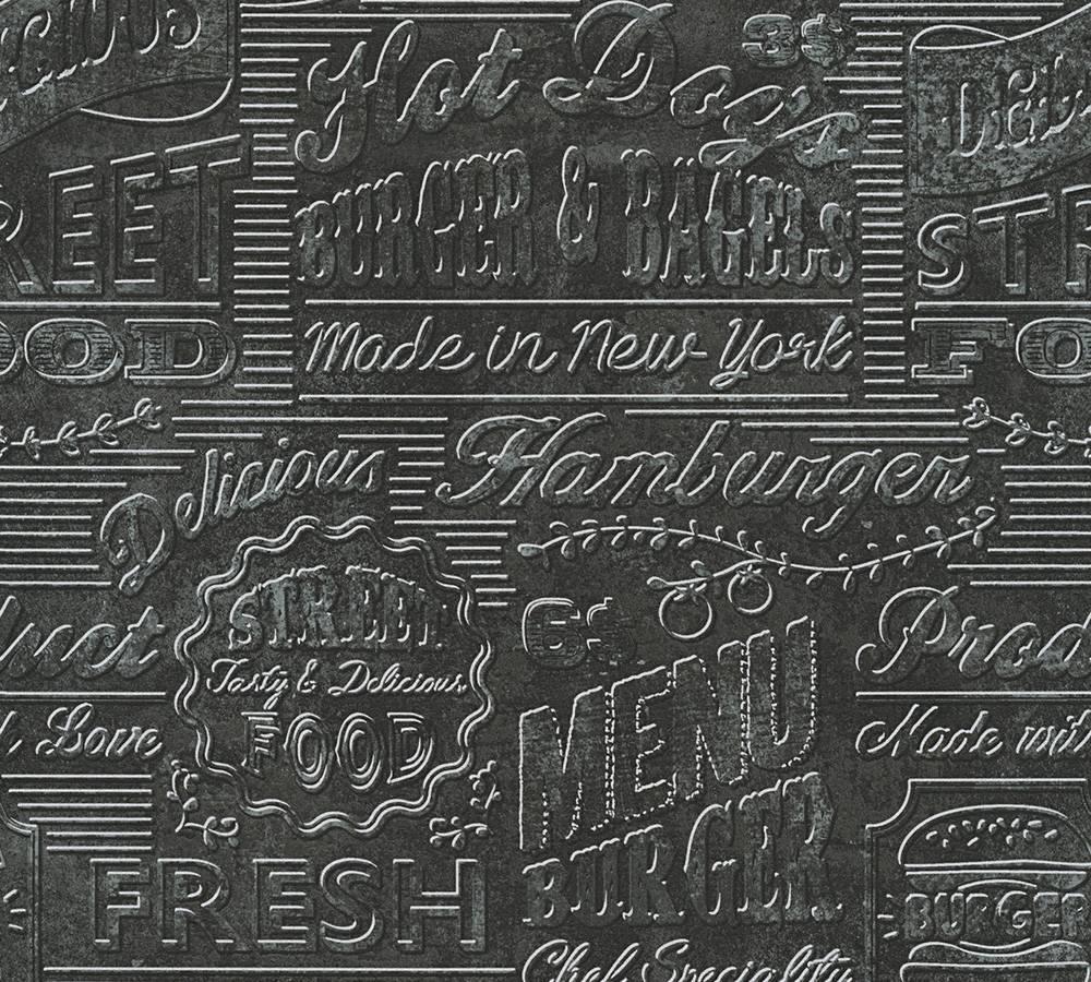 Full Size of Tapeten Küche Tapete Kche Usa Schwarz Silber As Creation 30664 3 Essplatz Wandverkleidung Einbau Mülleimer Wandtattoos Fototapeten Wohnzimmer Mit Geräten Wohnzimmer Tapeten Küche
