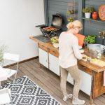 Küche Diy Upcycling Outdoor Kche Aus Einer Werkbank Möbelgriffe Schwarze Essplatz Ausstellungsküche Einbauküche Günstig Schnittschutzhandschuhe Eckküche Wohnzimmer Küche Diy