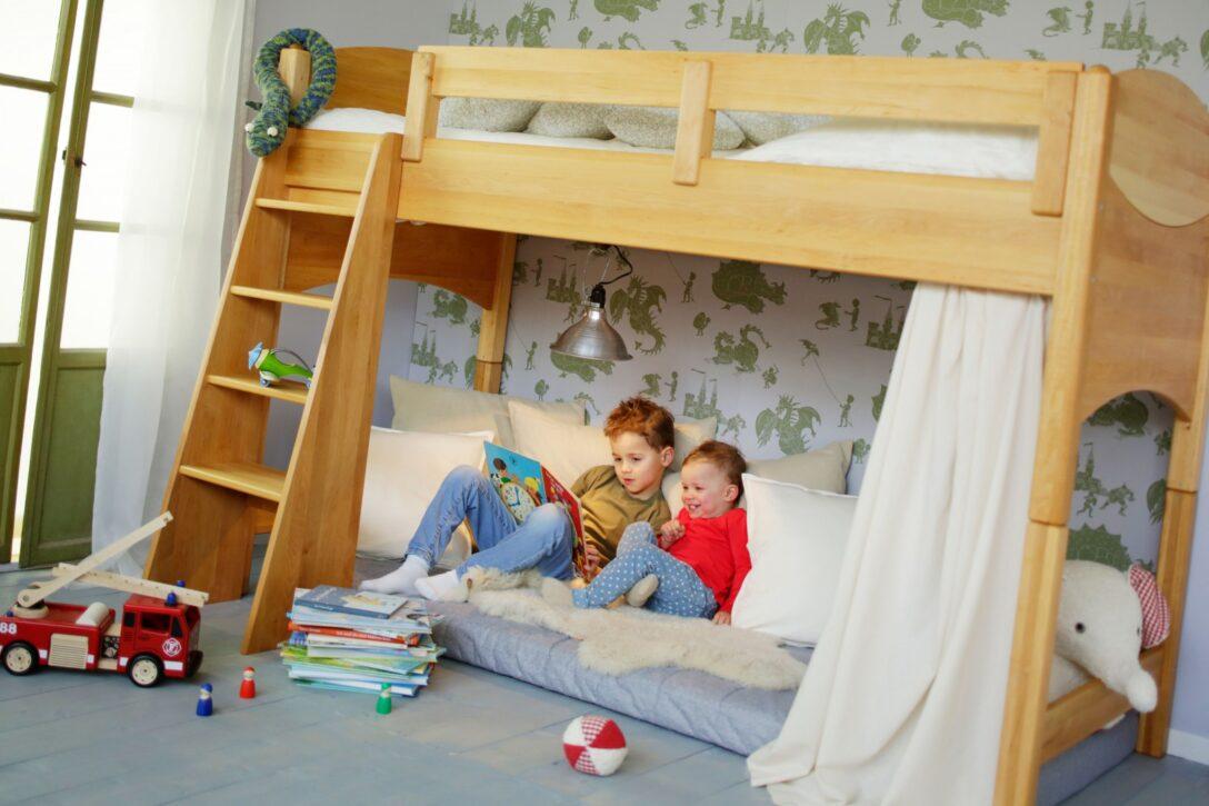 Large Size of Kinderzimmer Hochbett Bioset Noah 120 Cm Erle Regal Weiß Regale Sofa Kinderzimmer Kinderzimmer Hochbett