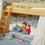 Kinderzimmer Hochbett Kinderzimmer Kinderzimmer Hochbett Bioset Noah 120 Cm Erle Regal Weiß Regale Sofa