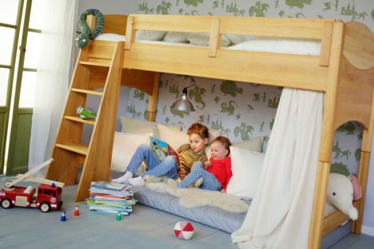 Medium Size of Kinderzimmer Hochbett Bioset Noah 120 Cm Erle Regal Weiß Regale Sofa Kinderzimmer Kinderzimmer Hochbett