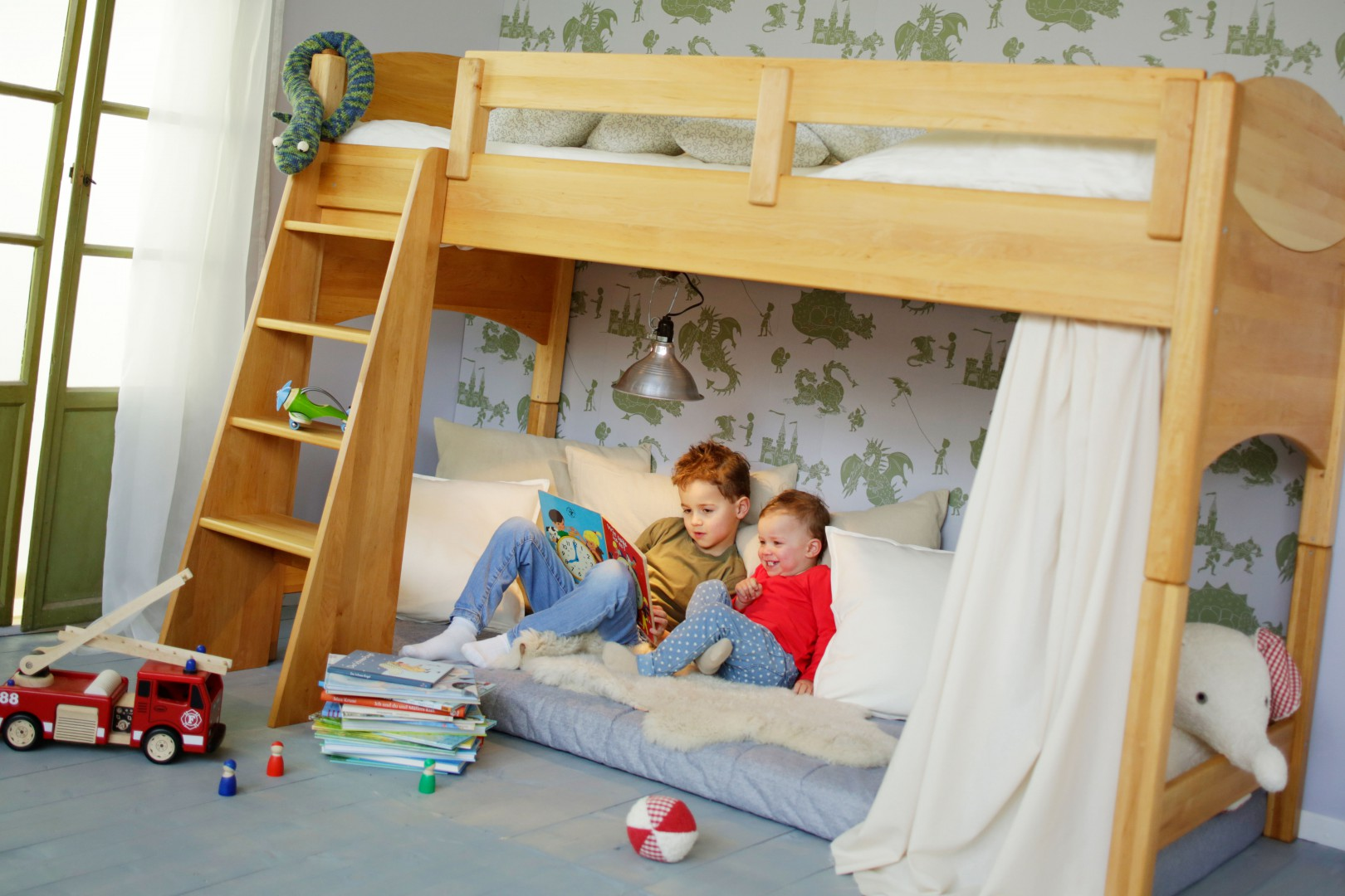 Full Size of Kinderzimmer Hochbett Bioset Noah 120 Cm Erle Regal Weiß Regale Sofa Kinderzimmer Kinderzimmer Hochbett