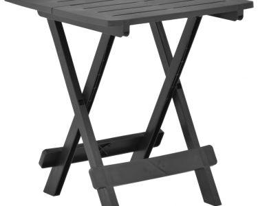 Gartentisch Klappbar Wohnzimmer Gartentisch Klappbar Vidaxl Anthrazit 45x43x50 Cm Kunststoff Bett Ausklappbar Ausklappbares