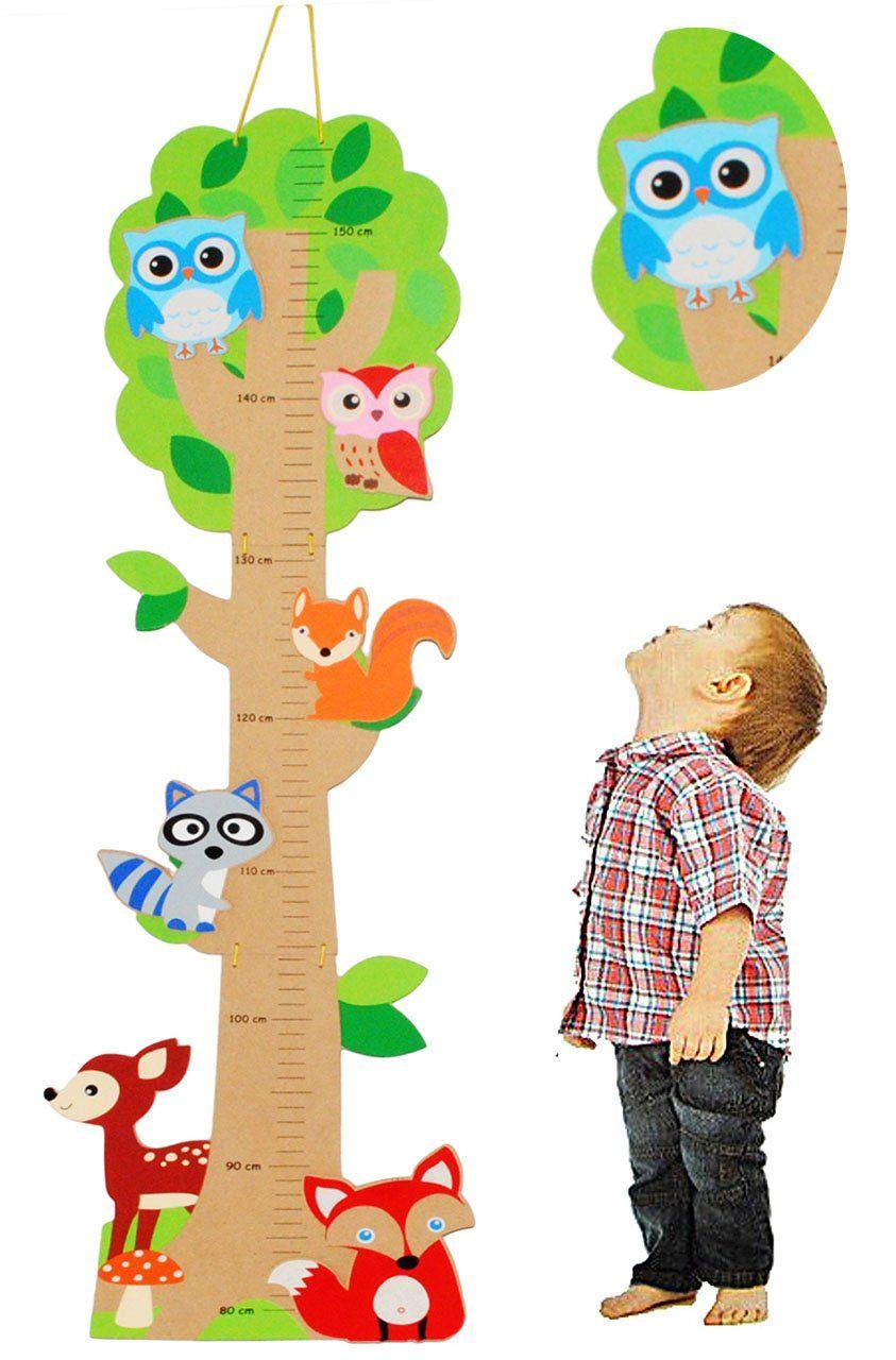Full Size of 3 D Melatte Aus Holz Baum Lustige Eule Tiere Zum Klappen Kinderzimmer Regal Sofa Weiß Regale Kinderzimmer Messlatte Kinderzimmer