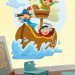 Piraten Kinderzimmer Kinderzimmer Wandtattoo Piraten Segeln Auf Dem Boot Webwandtattoocom Regal Kinderzimmer Sofa Weiß Regale