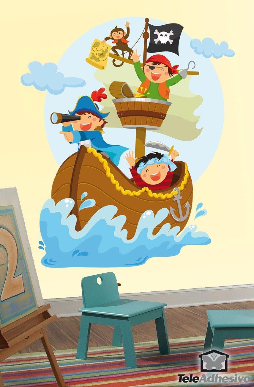 Full Size of Wandtattoo Piraten Segeln Auf Dem Boot Webwandtattoocom Regal Kinderzimmer Sofa Weiß Regale Kinderzimmer Piraten Kinderzimmer