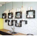Küche Wandregal Hngeregal U Cube In Individuellem Organischem Design Bodenbeläge Wandtattoos Mit Elektrogeräten Günstig Unterschränke Gebrauchte Wohnzimmer Küche Wandregal