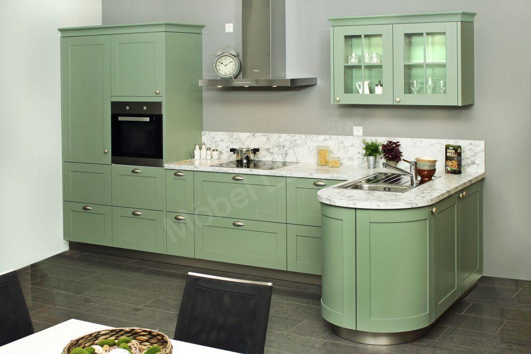 Large Size of Küchen Schller Kchen Casa Winkelkche In Salbeigrn Mbel Letz Ihr Regal Wohnzimmer Küchen