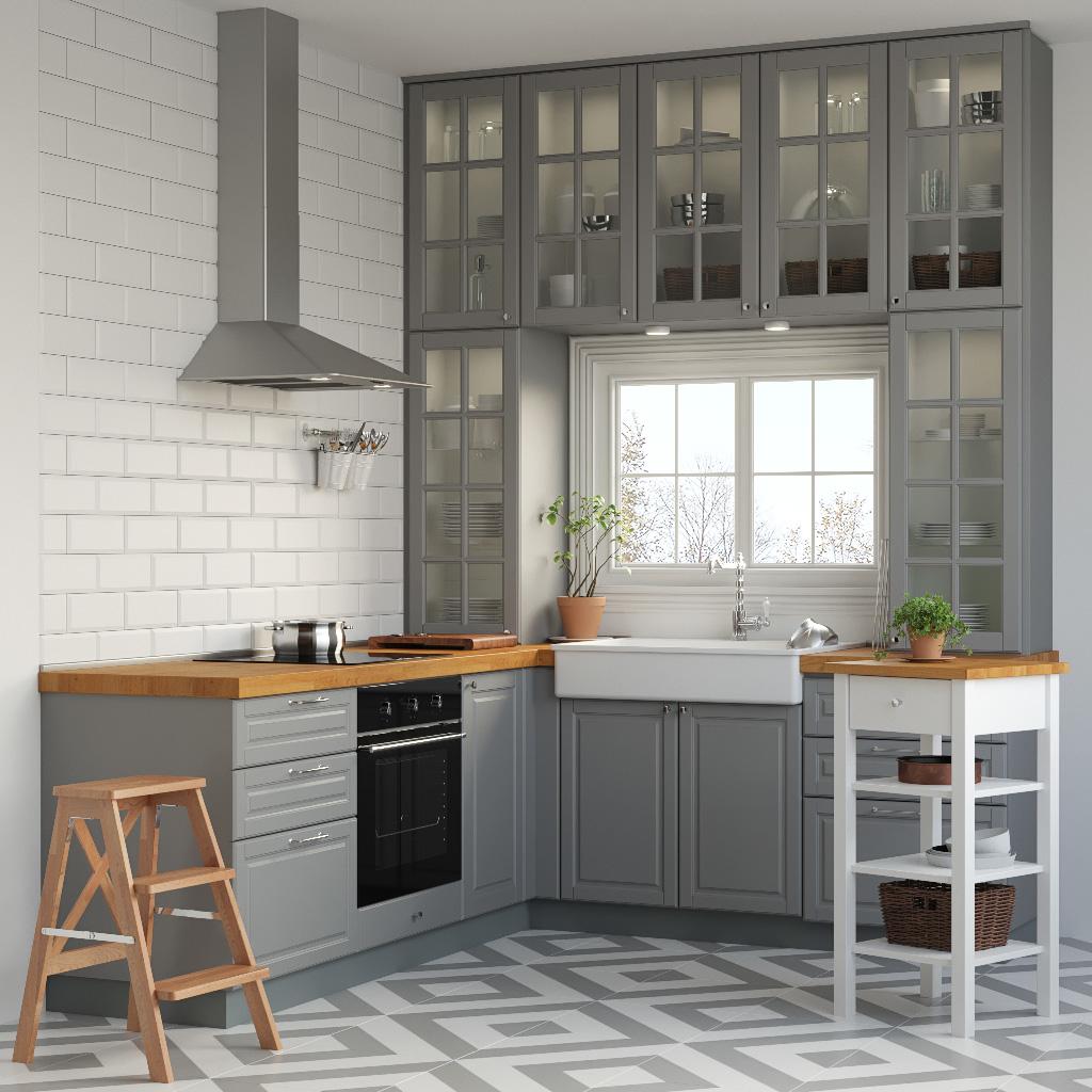 Full Size of Kche Ikea Metod 3d Modell Turbosquid 1226903 Betten 160x200 Küche Kaufen Bei Kosten Modulküche Miniküche Sofa Mit Schlaffunktion Wohnzimmer Küchenschrank Ikea