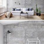 Wohnzimmer Tapeten Wohnzimmer Wooden Concrete In 2020 Wandgestaltung Tapete Indirekte Beleuchtung Wohnzimmer Schrankwand Deckenlampe Fototapeten Hängeschrank Vitrine Weiß Led