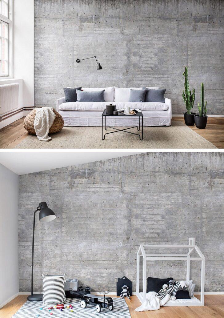 Medium Size of Wooden Concrete In 2020 Wandgestaltung Tapete Indirekte Beleuchtung Wohnzimmer Schrankwand Deckenlampe Fototapeten Hängeschrank Vitrine Weiß Led Wohnzimmer Wohnzimmer Tapeten