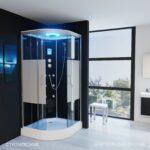 Dusche 90x90 Dusche Tronitechnik Duschtempel Fertigdusche Duschkabine Dusche Mischbatterie Bodengleiche Fliesen Ebenerdige Badewanne Mit Tür Und Rainshower Begehbare Duschen Ohne