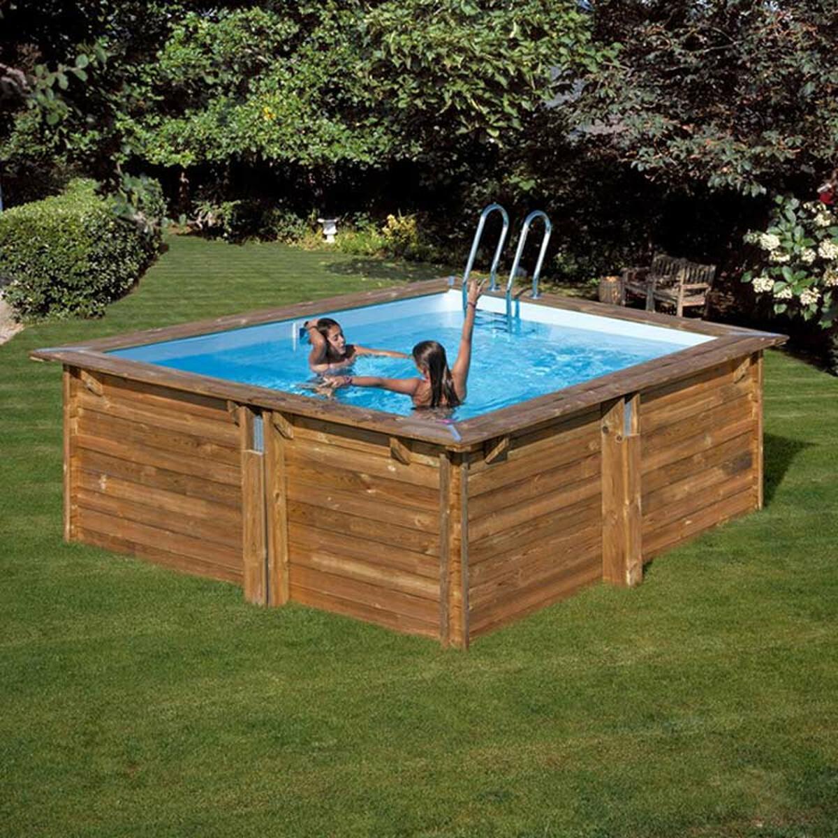 Full Size of Mini Pool Kaufen Gre Holzbecken Echtholz Rechteckpool Carra 305x305x119cm Regal Big Sofa Günstig Fenster Im Garten Bauen Schüco Duschen Guenstig Bett Wohnzimmer Mini Pool Kaufen