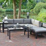 Terrassen Lounge 5tlg Alu Eckgruppe Garten Sitzgruppe Terrasse Tisch Sofa Sessel Möbel Loungemöbel Holz Günstig Set Wohnzimmer Terrassen Lounge