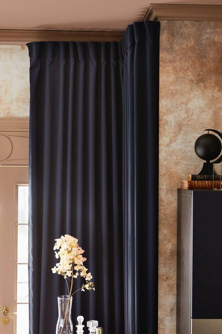 Medium Size of Vorhänge Ikea Majgull 2 Gardinenschals Verdunk Dunkelblau Miniküche Betten Bei Küche Kaufen Wohnzimmer Kosten Sofa Mit Schlaffunktion 160x200 Schlafzimmer Wohnzimmer Vorhänge Ikea