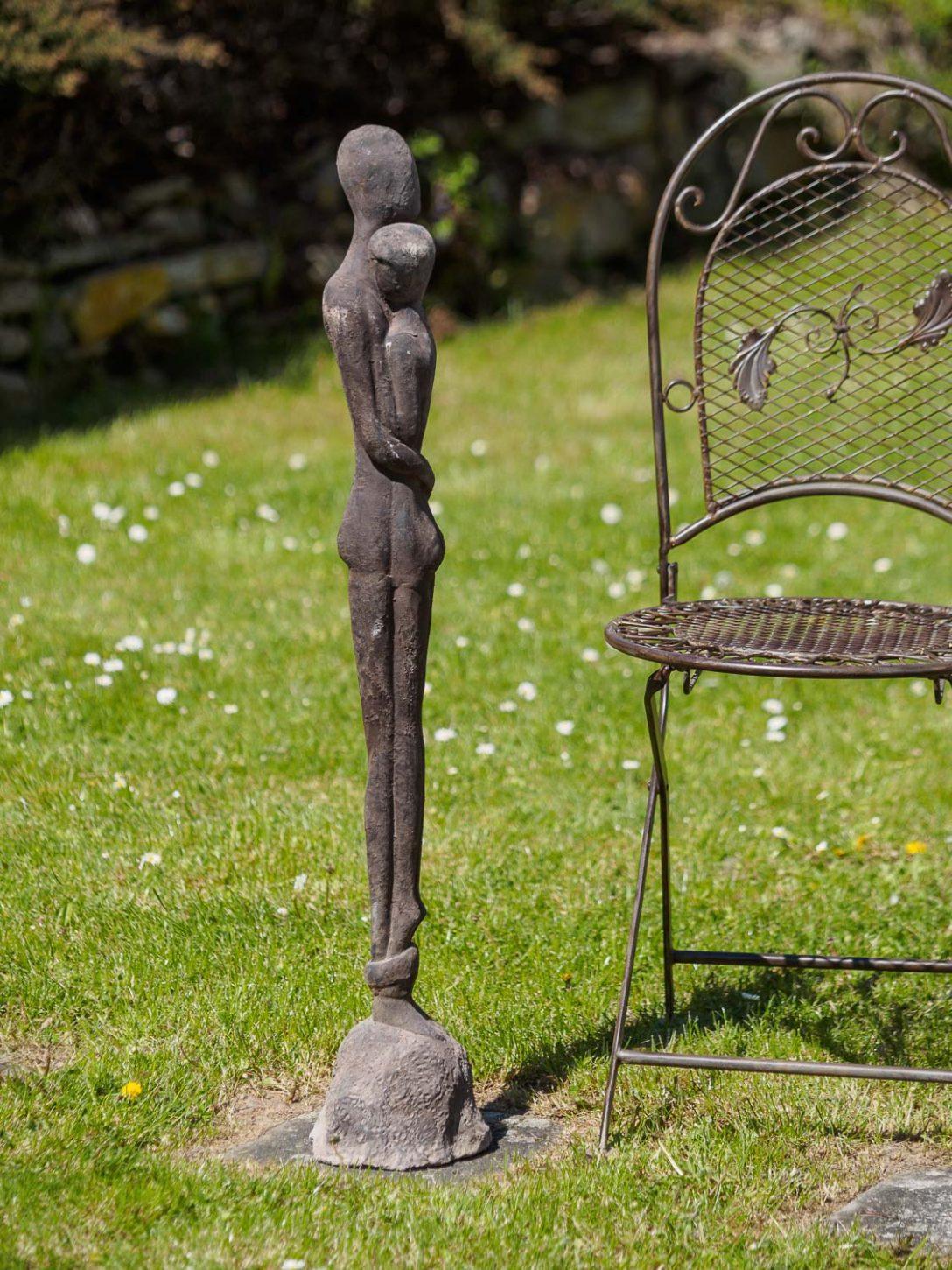 Large Size of Eisen Skulptur Statue Liebe Paar Moderne Garten 98cm Aubaho Kopfteil Für Bett Wellnesshotels Baden Württemberg Regale Keller Ecksofa Stapelstühle Fsj Bad Wohnzimmer Skulpturen Für Den Garten
