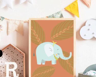 Kinderzimmer Wanddeko Kinderzimmer Print Illustration Kinderzimmer Poster Elefant Wanddeko Regal Weiß Regale Küche Sofa
