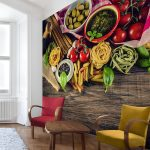 Küchentapeten Wohnzimmer Vliestapete Kchentapeten Pasta Fototapete Quadrat Vlies Tapete