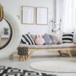 Weie Reifen Schaukel In Niedlichen Pastell Mit Punkt Garten Schaukelstuhl Regal Sofa Weiß Für Regale Kinderzimmer Schaukel Kinderzimmer