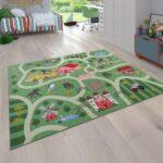 Kinderzimmer Pferd Kinderzimmer Kinderzimmer Pferd Spielteppich Straen Motiv Pferde Grn Teppichcenter24 Sofa Regal Regale Weiß