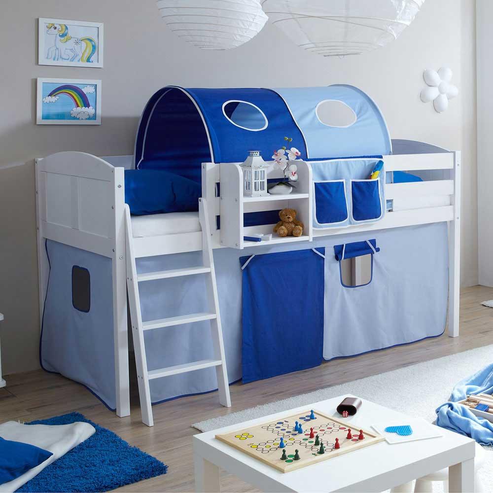 Full Size of Hochbett Kinderzimmer Horizonte Fr In Blau Wei Wohnende Regal Weiß Sofa Regale Kinderzimmer Hochbett Kinderzimmer