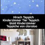 Hirsch Teppich Kinderzimmer Tier Wald Regal Weiß Wohnzimmer Teppiche Regale Sofa Kinderzimmer Kinderzimmer Teppiche