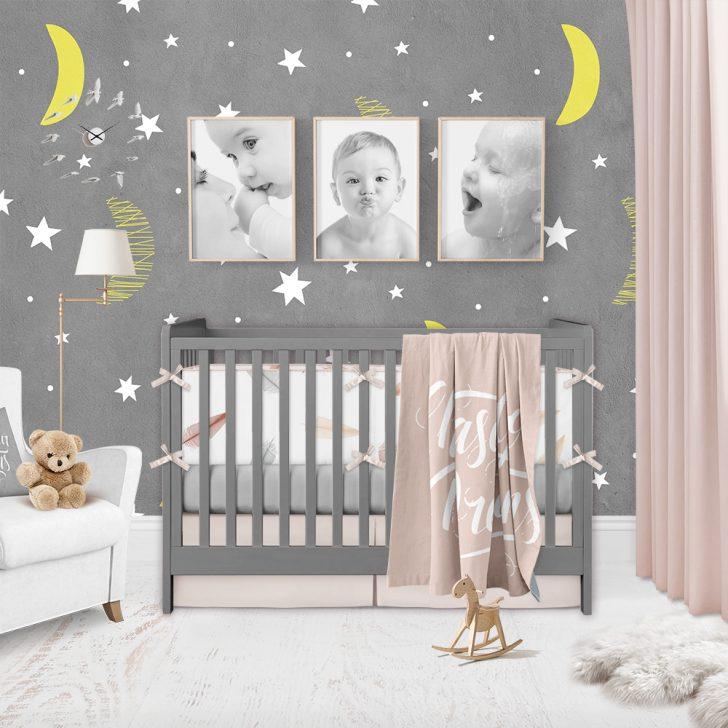 Medium Size of Kinderzimmer Tapete Mond Und Sterne Moonwallstickerscom Fototapete Wohnzimmer Tapeten Schlafzimmer Regal Weiß Küche Modern Fototapeten Für Regale Sofa Ideen Wohnzimmer Kinderzimmer Tapete