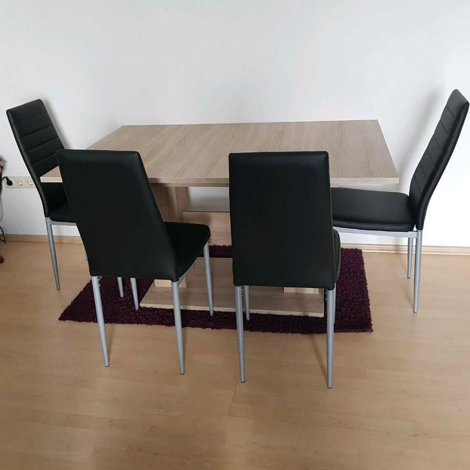 Full Size of Stühle Esstisch Groen Mit Vier Sthlen In Nordrhein Westfalen Marsberg Landhaus Und 2m Klein Deckenlampe Esstischstühle Esstische Baumkante Akazie Eiche Esstische Stühle Esstisch