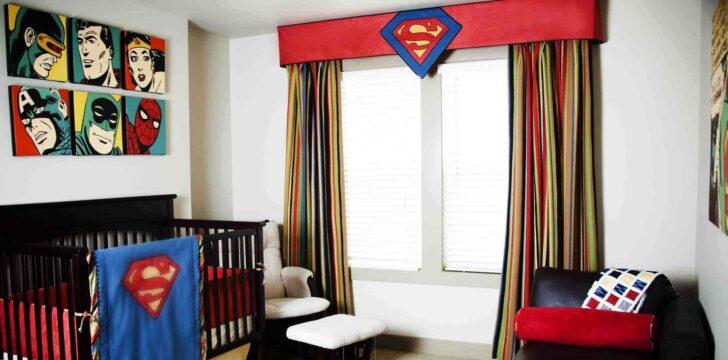 Medium Size of Kinderzimmer Für Jungs Dekoration Mit Superhelden Motiven Aus Den Comicheften Alarmanlagen Fenster Und Türen Regal Dachschräge Kleidung Tagesdecken Betten Kinderzimmer Kinderzimmer Für Jungs