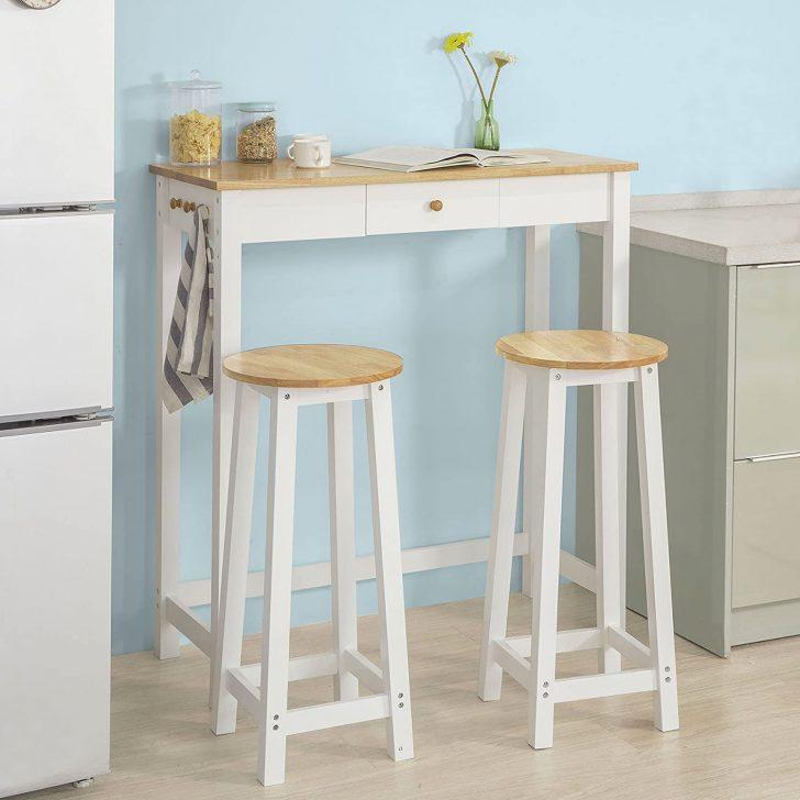 Medium Size of Sobuy Fwt50 Wn Bartisch Set 3 Teilig Stehtisch Mit Haken Und Wohnzimmer Küchenbartisch