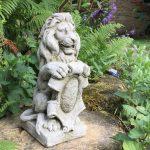 Skulptur Garten Lwe Mit Wappen Figur Mauerpfeiler Skulpturen Figuren Loungemöbel Günstig Sitzbank Liegestuhl Kräutergarten Küche Ausziehtisch Pavillion Wohnzimmer Skulptur Garten