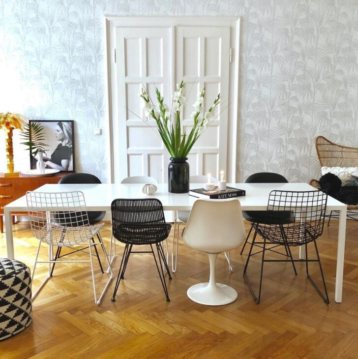 Medium Size of Esstisch Rund Mit Stühlen Esszimmer Einfach Verschiedene Sthle Mixen Stühle Betonplatte Marokko Rundreise Und Baden Weiss Einbauküche Elektrogeräten Esstische Esstisch Rund Mit Stühlen