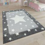 Bordüren Kinderzimmer Spielteppich Stern Design Grau Teppichcenter24 Regal Regale Weiß Sofa Kinderzimmer Bordüren Kinderzimmer