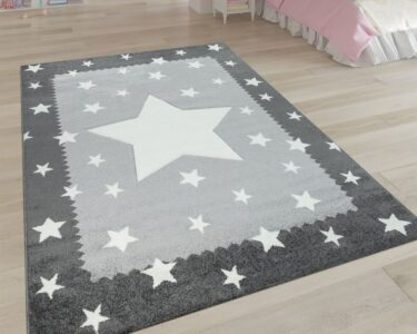 Bordüren Kinderzimmer Kinderzimmer Bordüren Kinderzimmer Spielteppich Stern Design Grau Teppichcenter24 Regal Regale Weiß Sofa