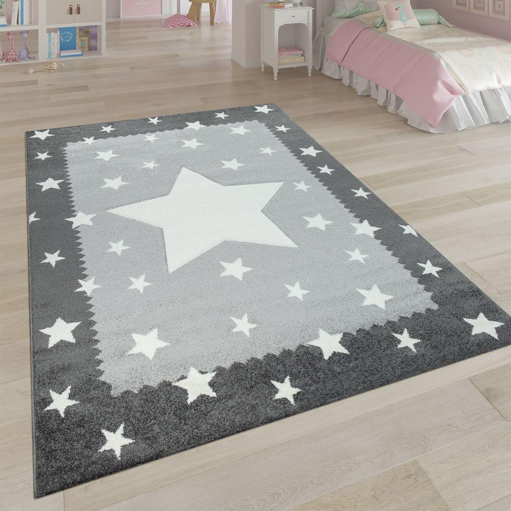 Full Size of Bordüren Kinderzimmer Spielteppich Stern Design Grau Teppichcenter24 Regal Regale Weiß Sofa Kinderzimmer Bordüren Kinderzimmer