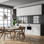 Wandgestaltung Kche 22 Ideen Fr Tapete Mit Wandfarbe Streichen Kleine Küche Einrichten Modulküche Ikea Einbauküche Kaufen Sprüche Für Die L Wohnzimmer Küche Wandfarbe