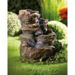 Gartenbrunnen Solar Wohnzimmer Gartenbrunnen Solar Led Brunnen Mit Beleuchtung Und Wasserfall